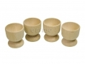 Apollo Set of 4 Beechwood Egg Cups AP4523