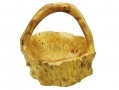 Apollo 20cm Hand Crafted Burr Wood Fruit Basket Cracked Side AP7099-RTN3 (DO NOT LIST) *Out of Stock*