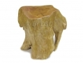 Apollo Hand Carved Burr Wood Stool Cracked on Top AP7103-RTN1 (DO NOT LIST) *Out of Stock*