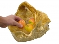 Apollo 37cm Hand Crafted Burr Wood Large Fruit Basket Cracked Side AP7165-RTN1 (DO NOT LIST)