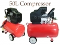 Professional Quality 50Ltr 220V Twin Outlet Air Compressor AT046