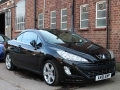 2011 Peugeot 308 CC Convertible 1.6 THP 156 GT Black Petrol Manual Black Leather Alloys AC 2 Owners 56,000 miles FSH AV61EWP