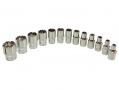 BERGEN 13 Piece 1/4 inch Drive Spline Shallow Socket Set in Blow Moulded Tray BER1110 *Out of Stock*