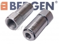 "BERGEN Professional 2 Piece Pack Female Air Quick Coupler 1/2"" BSPT BER8052"