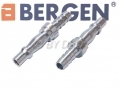 BERGEN Professional Quick Plug with Barb for 8mm Hose 2 pack BER8058