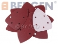 BERGEN Vewerk Bodyshop Spec 30 Pack 140 mm Mixed Triangle Velcro Sanding Discs 40 Grit BER8084