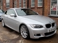 2010 BMW 320I 2.0 M Sport Highline Convertible Manual Petrol Titan Silver with Dakota Black Leather Years MOT 50,000 FSH BJ59VYO