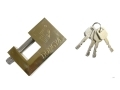Tool-Tech 90mm High Grade Security Brass Shutter Padlock with 3 Security Keys BML10460