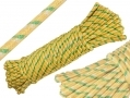 Tool-Tech 100 Foot x 10mm Polypropylene Diamond Braid Multi Purpose Utility Rope Yellow BML20560YELLOW