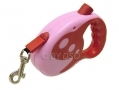 Max and Tilly 5 Metre Retractable Dog Lead Red/pink BML31810