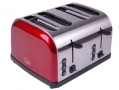 Quest Red 1500 Watt 4 Slice Toaster with Wide Slots BML34050 *Out of Stock*