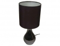 Illumini Barletta Black Touch Lamp with Black Fabric Shade BML36300 *Out of Stock*