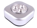 Gardenkraft 3pk Square 3 LED Push Light Bright White BML42390