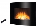 Quest Wall Mounted Fireplace With Pebbles and curved Faceplate with Remote Control 900-1800 Wat BML44190 *Out of Stock*