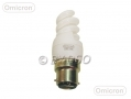 Omicron OMC1107 7W Spiral Energy Saving Bulb with Bayonet Fitting BML47960 *Out of Stock*