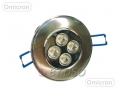 Omicron Silver Finish LED Downlight 6400k Cool White 5 Watt  BML49590