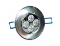 Omicron Silver Finish LED Downlight 2700k (Warm White) 5 Watt BML49620