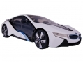 Global Gizmos Remote Control 1:14 scale BMW i8 Concept Car White and Blue BML50540WHITE
