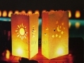 GardenKraft 5 x Candle Lantern Bags Wedding, Haloween and Garden Light BML60500