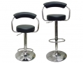 1x Divine Olivia Design Faux Leather Bar Stool in Black BML62350