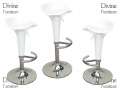 Divine Madison Hydraulic Bar Stool Style in White 360 Degree Swivel Damaged Stock BML69240RTN *Out of Stock*