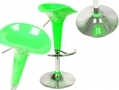 Divine Madison Hydraulic Bar Stool Style in Green 360 Degree Swivel with Highly Polished Chrome Base BML69360 *Out of Stock*