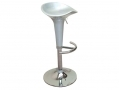 Divine Madison Hydraulic Bar Stool Style in Silver 360 Degree Swivel with Highly Polished Chrome Base BML69370 *Out of Stock*