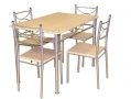 Divine 5pc Celine Dining Table and Four Chairs Set BML69650
