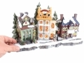 Christmas Snow Street Scene Hotel and Flower Shop BML70000FLO *Out of Stock*