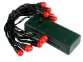 Battery Operated 15 LED Christmas Red Berry Fairy Lights BML80190  *Out of Stock*