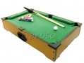 Gizmo Games Table Top Pool Table Ready to Use Balls Cues Chalk with Brush and  Chalk BML80390