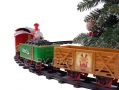 Christmas Train Set With Realistic Sound and 3 Cargo Carriages BML81010