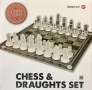 Gizmo Games  2 in 1 Games Set in Glass Chess and Draughts 25cms x 25 cms BML81100