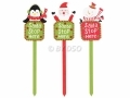 3 Pack Santa Stop Here Christmas Sign on Stake BML86270 *Out of Stock*