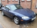 2002 Mazda MX5 1.8 Automatic Blue Alloys CAT D 70,000 miles Service History CE52LFY
