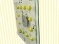 Glass Lemon Kitchen Wall Clock D12630/DL