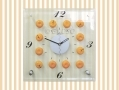 Glass Orange Kitchen Wall Clock D12630/DO