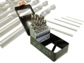 25PC Hi Quality 135 Degree Split Point Fully Ground HSS Drill Set White Finish 4341 Steel DR209