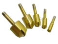 Am-Tech Professional 5 Piece Titanium Coated Countersink Bit Set AMF0840
