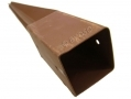 Robust Metal Rust Resistant Fence Post Holder 75mm x 75mm x 750mm FH100