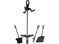 Ashley Housewares 4 Piece Fireplace Companion Set with Shovel, Brush and Poker FS300 *Out of Stock*