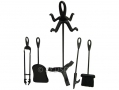 Ashley Housewares 5 Piece Fireplace Companion Set with Shovel, Brush, Tongs and Poker FS309 *Out of Stock*