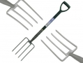 Heavy Duty Garden Border Fork with Steel Handle and 970mm Forks GD012