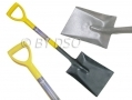 Gardeners Quality Square Mouth Steel Shovel with Plastic Handle 96cm GD265 *Out of Stock*