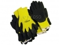 "12 pack 10"" Non-slip Fleece and Latex Dipped Builders Gloves Large GL023"
