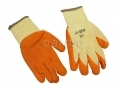 "12 pack 8"" Non-slip Fleece and Latex Dipped Builders Gloves Small GL029 *Out of Stock*"