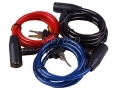 3 Pc Steel Cable Bicycle Lock 1000mm x 8mm BH199