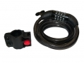 Combination Bike Lock 4 Digit with Bike Bracket 1200mm x 12mm Keyless BH209 *Out of Stock*