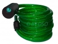 72 inch Steel Wire Bike Lock with 2 Keys and Bike Bracket Green BH216GREEN *Out of Stock*
