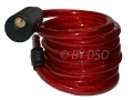 72 inch Steel Wire Bike Lock with 2 Keys and Bike Bracket Red BH216RED *Out of Stock*